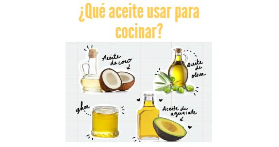 Qu aceite usar para cocinar for Mejor aceite para cocinar