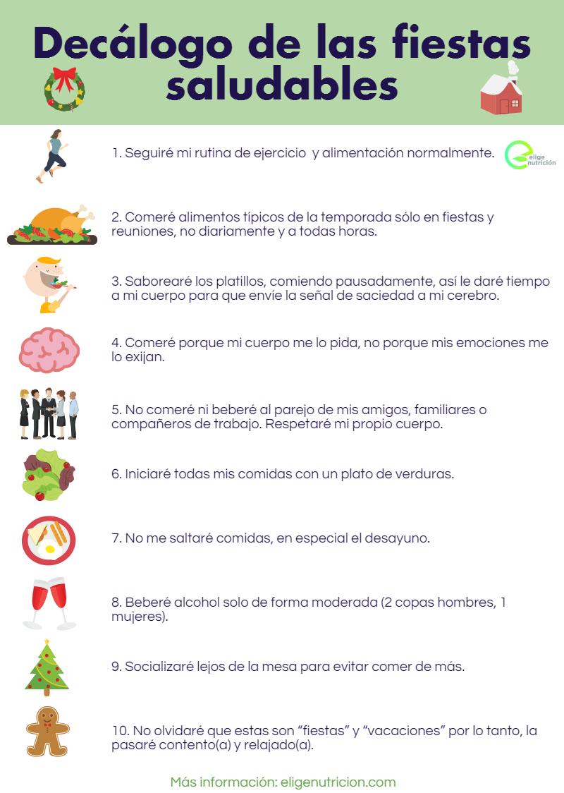 Fiestas saludables. Infografía EN.